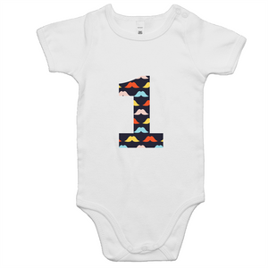 Our cute '1' moustache onesie is perfect for your little boys first birthday outfit. Our moustache design is ethically sourced and printed in Australia. It is great for a cake smash or first birthday party.