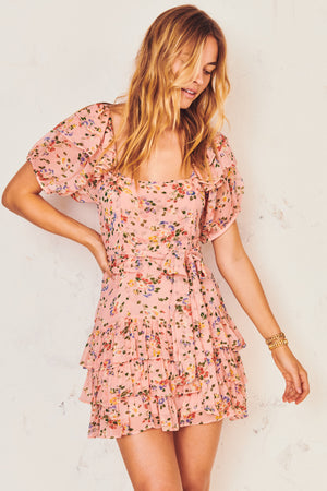 kimbra dress in sunset pink