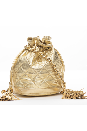 CHANEL Vintage Bucket Small | Gold
