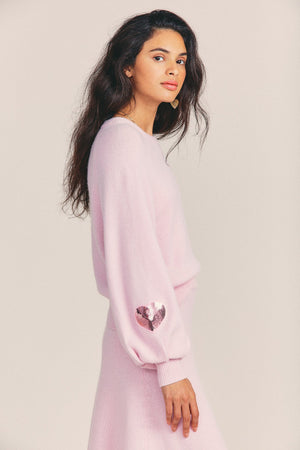 ASHLAND PULLOVER SWEATER | PINK