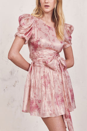 Love Shack Fancy's Mercy dress in Pale Rose Pink
