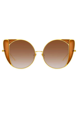 LINDA FARROW AUSTIN C2 CAT EYE SUNGLASSES | Gradient-Gold