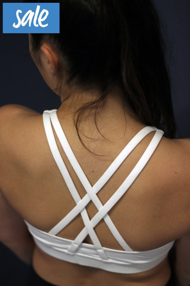 Lululemon White Energy Bra