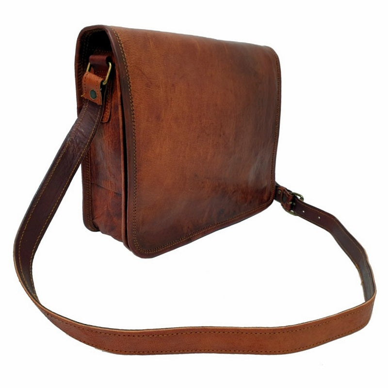 "The Post 11"" Leather Messenger Bag - The Leather Trading Co."