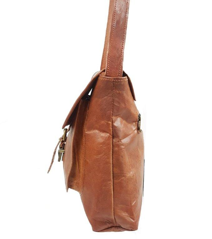 Old School Single Pocket Goat Leather Shoulder Satchel Bag - The Leather Trading Co.