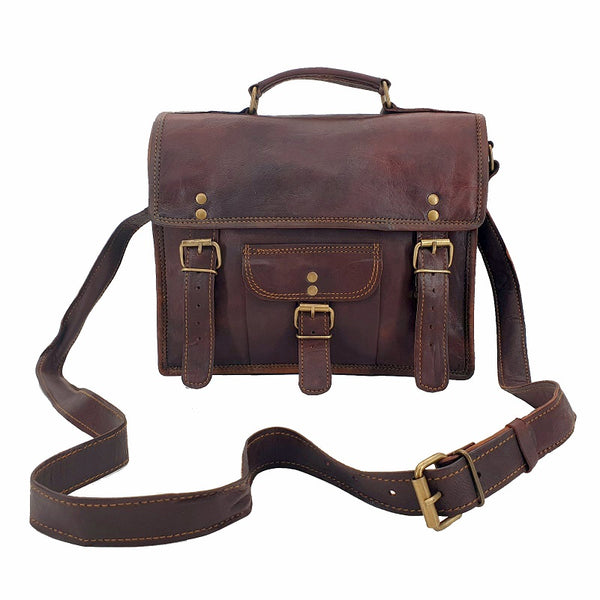 Conductor 11″ Leather Transit Bag - The Leather Trading Co.