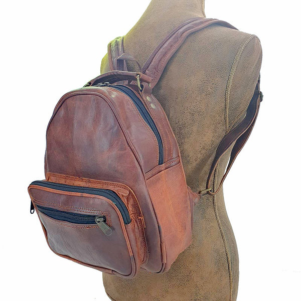 "Trebon 12"" Handmade Leather Backpack"