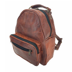 "Trebon 12"" Handmade Leather Backpack - The Leather Trading Co."