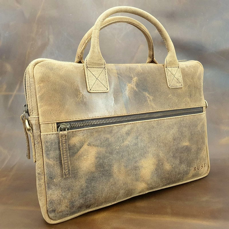"Urban 13"" Buffalo Slim Leather Laptop Briefcase - The Leather Trading Co."