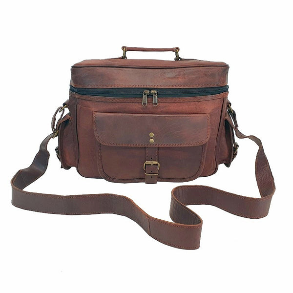 "Shooter 13"" Leather Camera Bag - The Leather Trading Co."