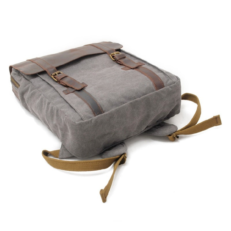"Metropolis 13"" Grey Washed Canvas Backpack - The Leather Trading Co."