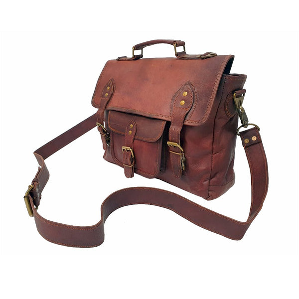 "Redford 16"" Leather Satchel Bag - The Leather Trading Co."