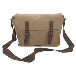 "Medic 14"" Camel Vintage Fashion Canvas & Leather Medical Messenger Shoulder Bag - The Leather Trading Co."