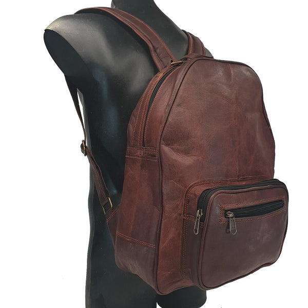 "Trebon 16"" Handmade Leather Backpack - The Leather Trading Co."