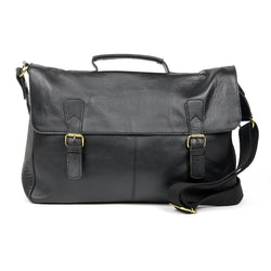 "Claude 16"" Cowhide Leather Messenger Bag - The Leather Trading Co."