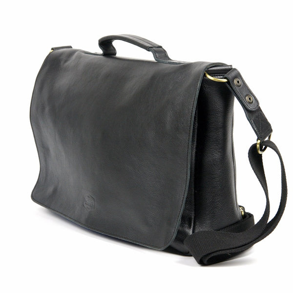 "Alexander 16"" Cowhide Messenger Bag - The Leather Trading Co."