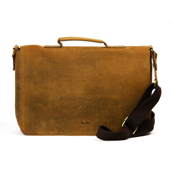 "Alexander 16"" Buffalo Messenger Bag - The Leather Trading Co."