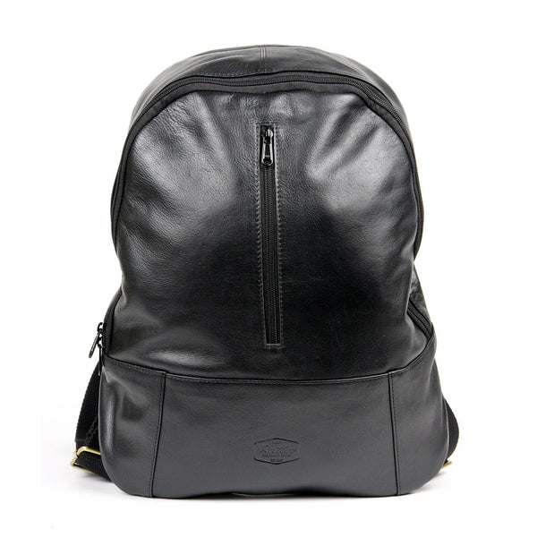 "Trinity 16"" Cowhide Zip Up Backpack - The Leather Trading Co."