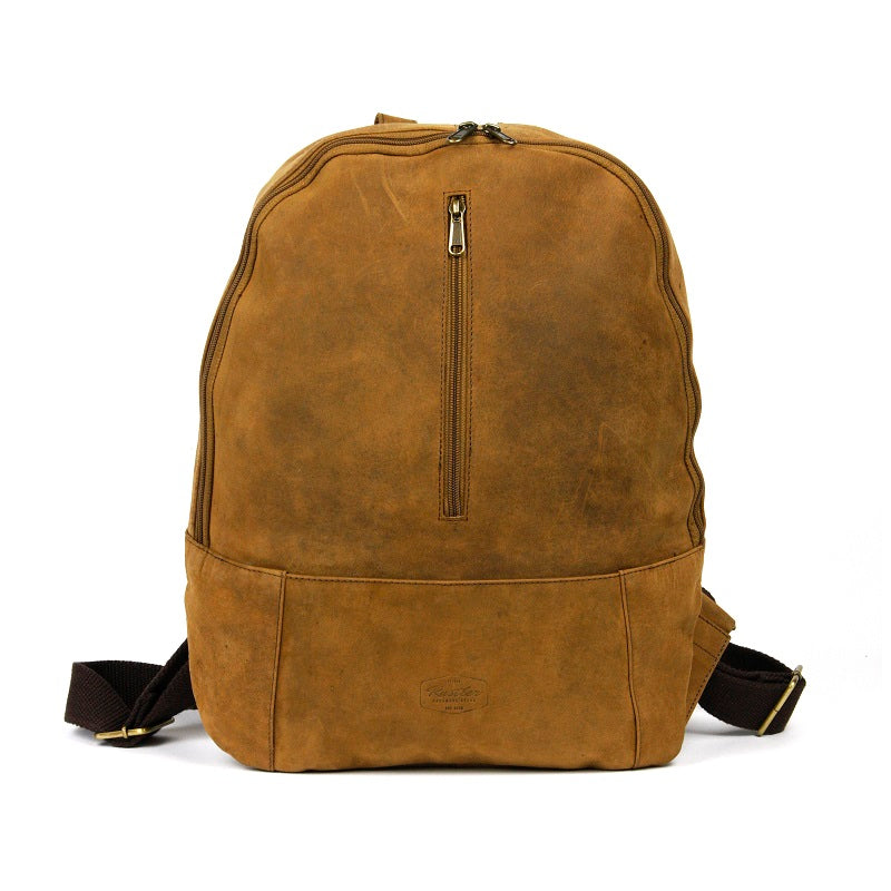 "Trinity 16"" Buffalo Zip Up Backpack - The Leather Trading Co."