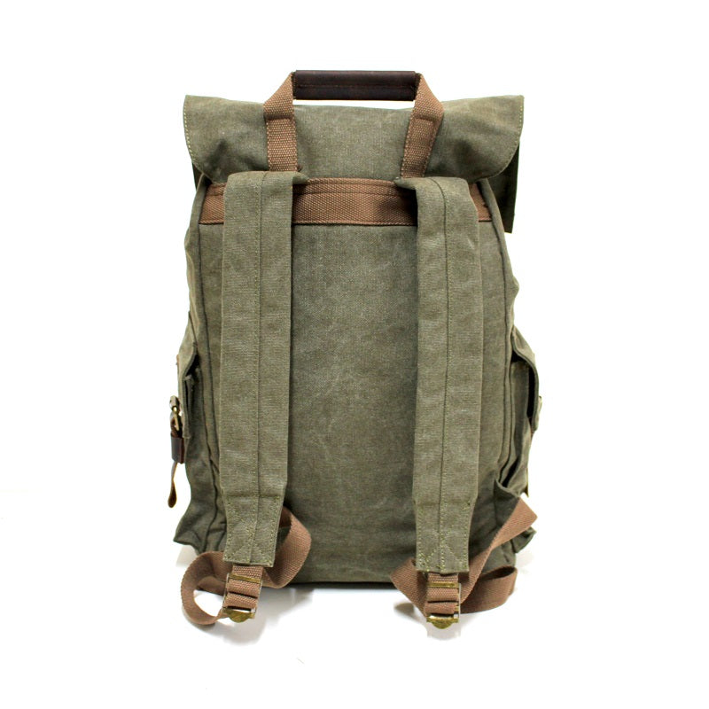 "Legend 17"" Forrest Canvas & Leather Adventurer Hiking Backpack - The Leather Trading Co."