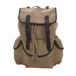 "Adler 17"" Camel Thick Canvas & Leather Travel Adventure Rucksack - The Leather Trading Co."