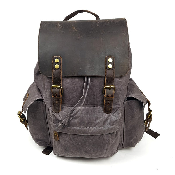 Harley Canvas & Leather Backpack
