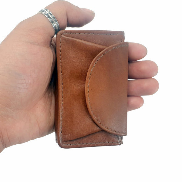 Smart - Tan Calf Leather Mini Travel Wallet - The Leather Trading Co.