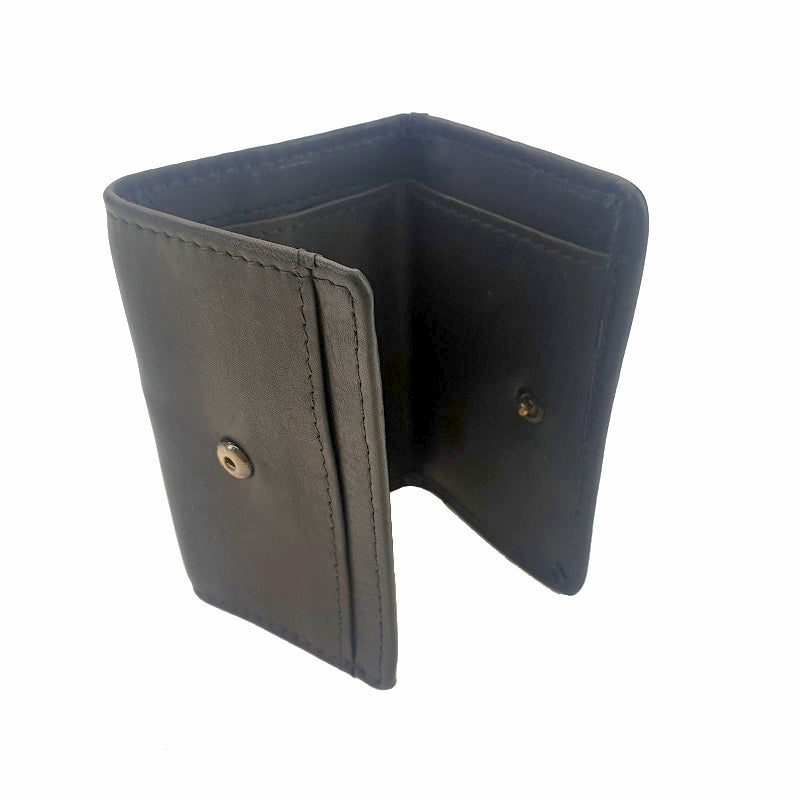 Smart - Black Cowhide Leather Mini Travel Wallet - The Leather Trading Co.