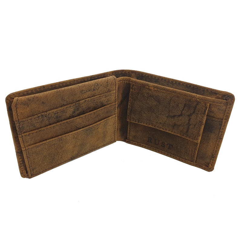 Euro - Buffalo Double Fold Button Leather Wallet - The Leather Trading Co.