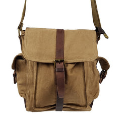 "Raptor 11"" Khaki Metro Shoulder Satchel - The Leather Trading Co."