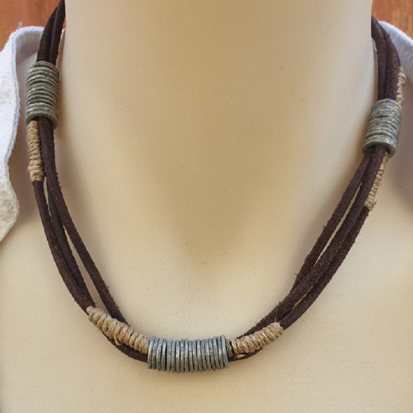 Tribal Handmade Leather Necklace - The Leather Trading Co.