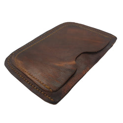 Joy - Slim Goat Hide Leather Card Holder - The Leather Trading Co.