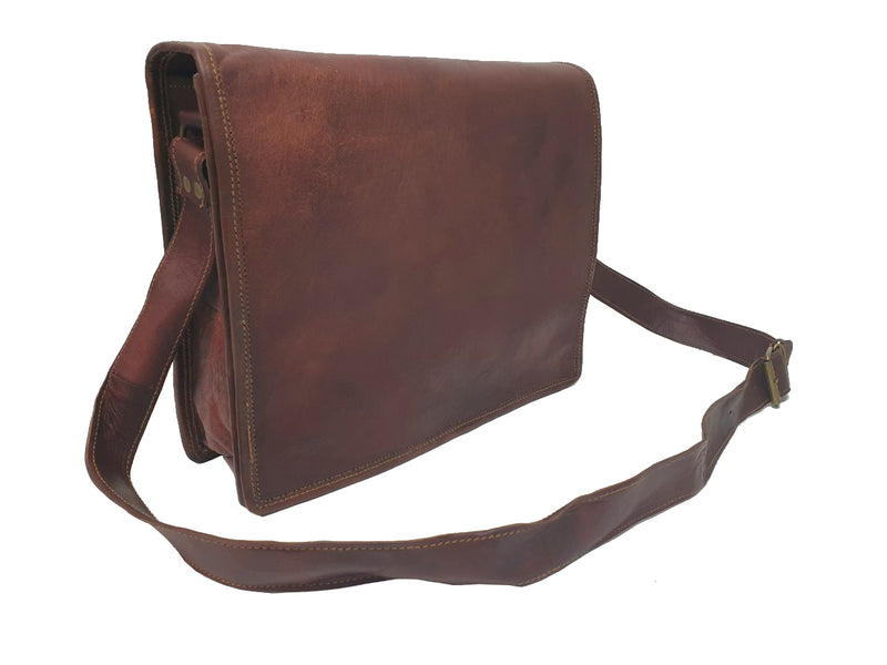 "The Post 13"" Leather Messenger Bag - The Leather Trading Co."