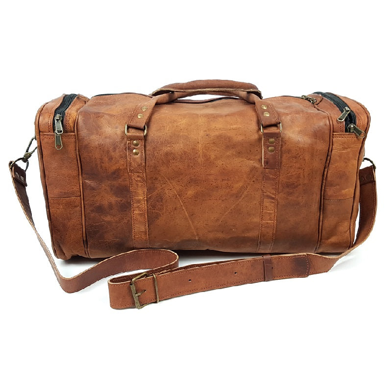 "Crusader 50"" Carry-on Leather Travel Bag - The Leather Trading Co."