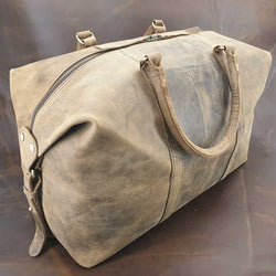 "Atlas 50"" Buffalo Weekender Carry-On Duffle Bag - The Leather Trading Co."