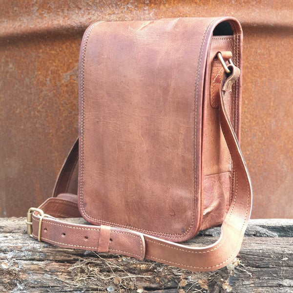 "Transit 7"" Postal Bag - The Leather Trading Co."