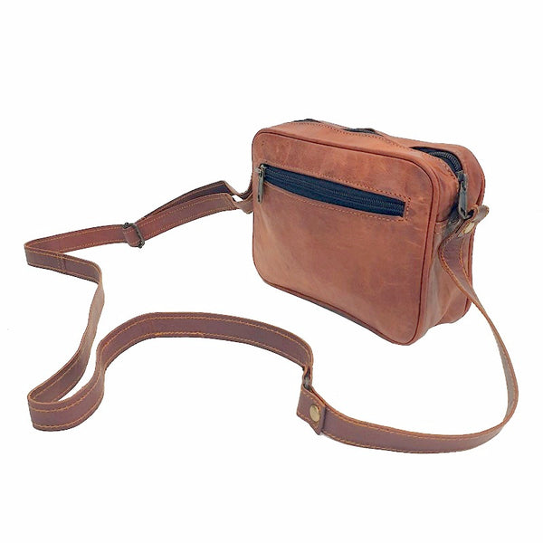 "Ryder 7"" Classic Leather Travel Zip Bag"