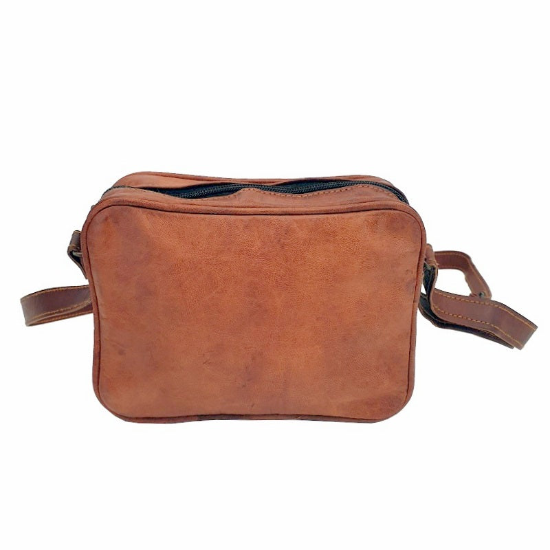 "Ryder 7"" Classic Leather Travel Zip Bag - The Leather Trading Co."