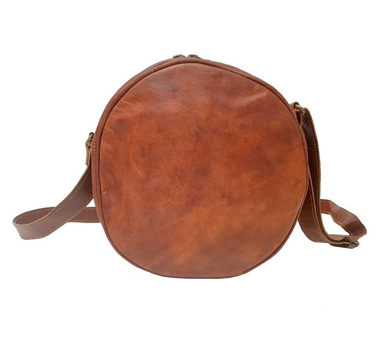 "Olivia 8"" Leather Day Bag - The Leather Trading Co."