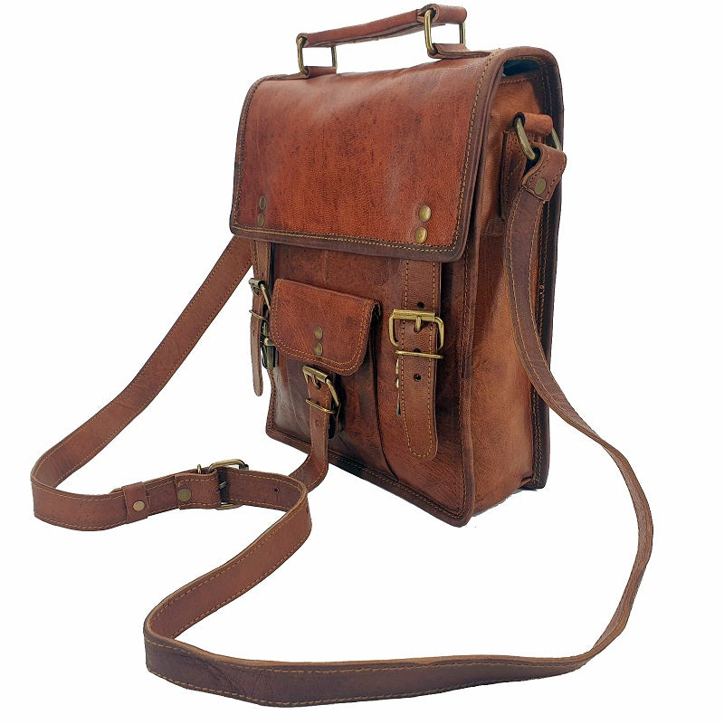 "Marshal 11"" Full Grain Leather Transit Bag - The Leather Trading Co."