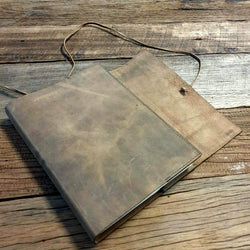 MAKE AN 'ARK' REFILLABLE LEATHER WRAP JOURNAL - WORKSHOP