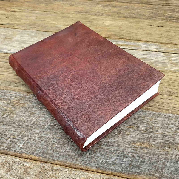 Florentino A5 Handemade Hard Cover Full Grain Leather Lined Notebook Journal - The Leather Trading Co.