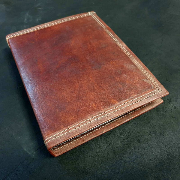 Ares Large Handmade Refillable Lined Leather Travel Journal - The Leather Trading Co.