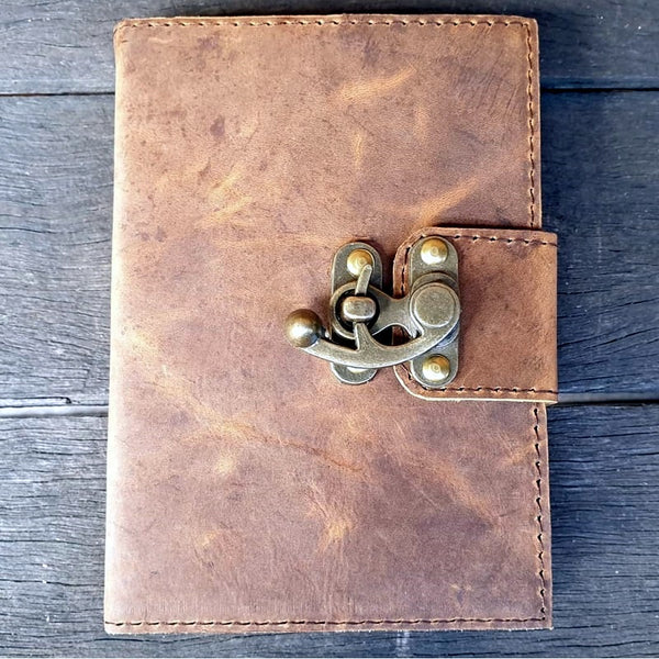 Ark 3 Handmade Buffalo Leather Travel Journal