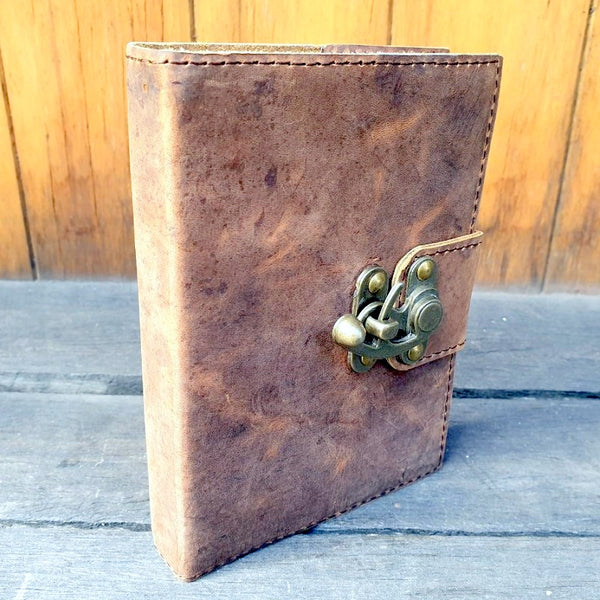 Ark 3 Handmade Buffalo Leather Travel Journal - The Leather Trading Co.