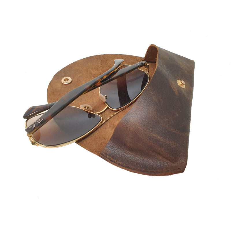 Buffalo Hide Sunglasses Case - The Leather Trading Co.