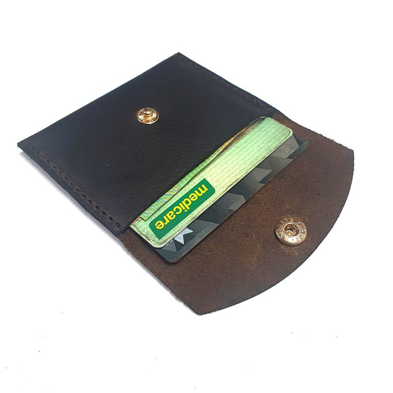 Charlie - Handmade Buffalo Leather Card & Cash Holder - The Leather Trading Co.