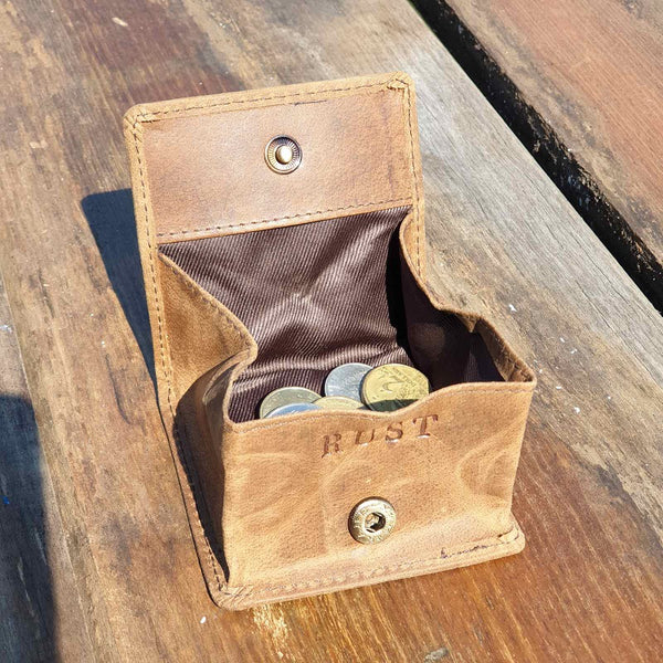 Charlie Compact Buffalo Leather Coin Pouch