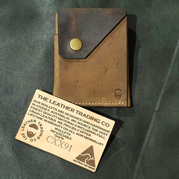 Commander XX  - Handmade Minimalist Hybrid Leather Card & Cash Wallet  - CXX91 - The Leather Trading Co.