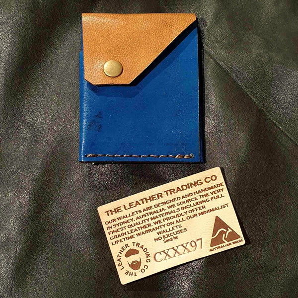 Commander XXX  - Handmade Minimalist Hybrid Leather Card & Cash Wallet  - CXXX97 - The Leather Trading Co.